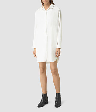 Women's Marlon Shirt Dress (Chalk White) - product_image_alt_text_4