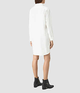 Women's Marlon Shirt Dress (Chalk White) - product_image_alt_text_5