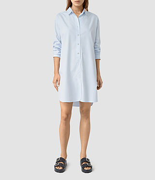 Womens Marlon Shirt Dress (Light Blue) - product_image_alt_text_1