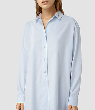 Femmes Marlon Shirt Dress (Light Blue) - product_image_alt_text_2