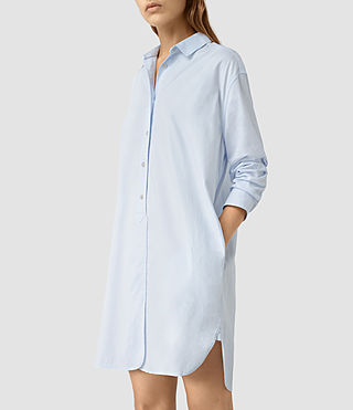 Femmes Marlon Shirt Dress (Light Blue) - product_image_alt_text_3