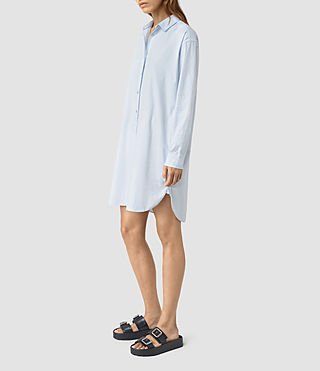 Femmes Marlon Shirt Dress (Light Blue) - product_image_alt_text_4