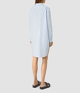 Womens Marlon Shirt Dress (Light Blue) - product_image_alt_text_5