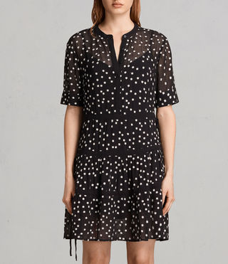 Damen Picolina Embroidered Tier Dress (Black)
