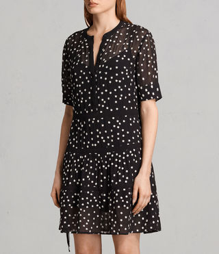 Mujer Picolina Embroidered Tier Dress (Black) - product_image_alt_text_2