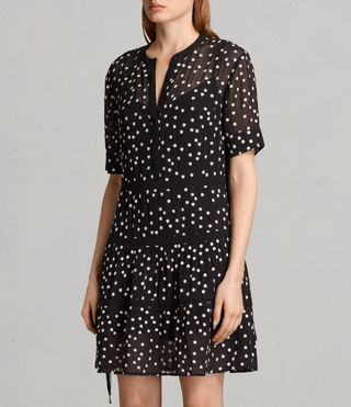 Mujer Picolina Embroidered Tier Dress (Black) - product_image_alt_text_6