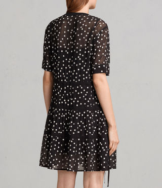 Mujer Picolina Embroidered Tier Dress (Black) - product_image_alt_text_7
