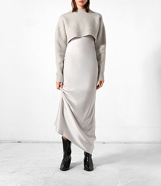 Femmes Robe Naomi (Pebble Grey)