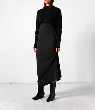 Mujer Naomi Dress (Black) - product_image_alt_text_2