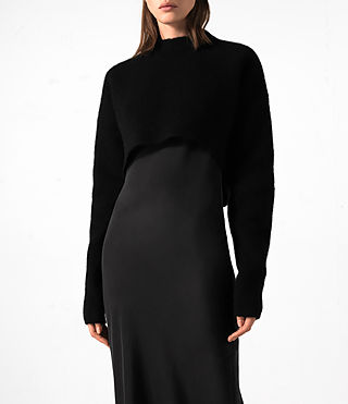 Mujer Naomi Dress (Black) - product_image_alt_text_3