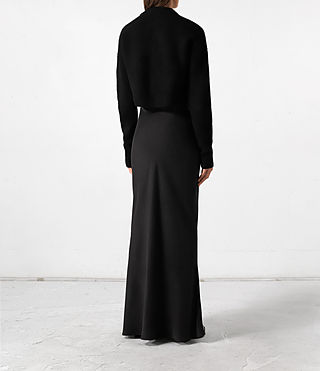 Mujer Naomi Dress (Black) - product_image_alt_text_4