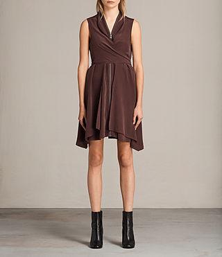 Womens Jayda Silk Dress (Damson) - Image 1