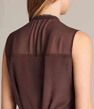 Womens Jayda Silk Dress (Damson) - Image 2