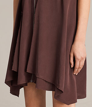 Womens Jayda Silk Dress (Damson) - Image 6