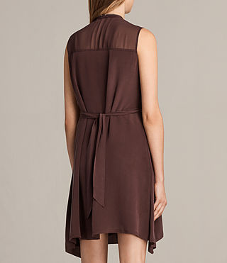 Womens Jayda Silk Dress (Damson) - Image 8