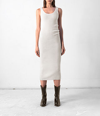 Donne Rev Cashmere Vest Dress (CREAM WHITE)