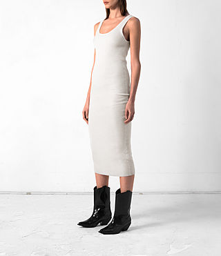 Women's Rev Cashmere Vest Dress (CREAM WHITE) - product_image_alt_text_3