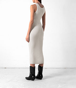 Women's Rev Cashmere Vest Dress (CREAM WHITE) - product_image_alt_text_4