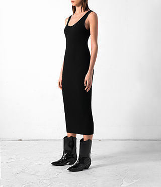 Donne Rev Cashmere Vest Dress (Black) - product_image_alt_text_3