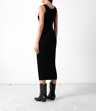 Donne Rev Cashmere Vest Dress (Black) - product_image_alt_text_4