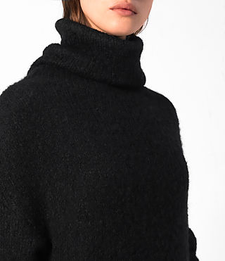 Damen Satellite Dress (Black) - product_image_alt_text_2