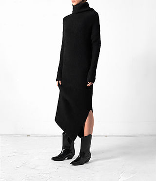 Damen Satellite Dress (Black) - product_image_alt_text_3