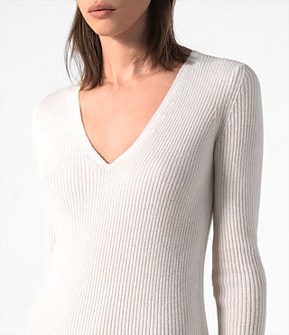 Mujer Rev Cashmere Dress (CREAM WHITE) - product_image_alt_text_2