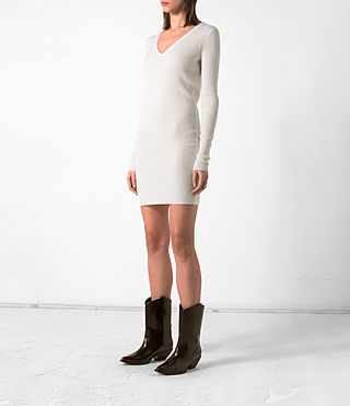 Femmes Rev Dress (CREAM WHITE) - product_image_alt_text_3
