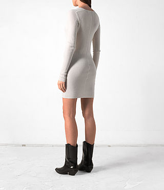Mujer Rev Cashmere Dress (CREAM WHITE) - product_image_alt_text_4