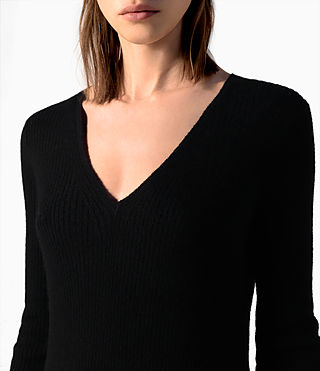 Mujer Rev Cashmere Dress (Black) - product_image_alt_text_2