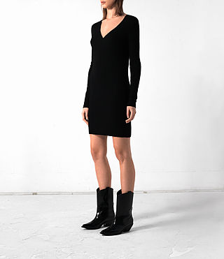 Mujer Rev Cashmere Dress (Black) - product_image_alt_text_3