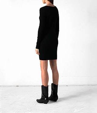 Mujer Rev Cashmere Dress (Black) - product_image_alt_text_4