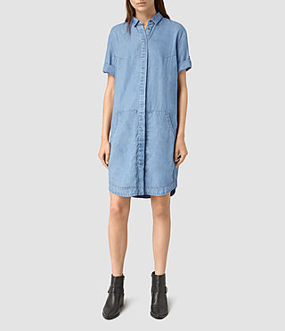 Womens Calla Bay Dress (MID INDIGO BLUE)