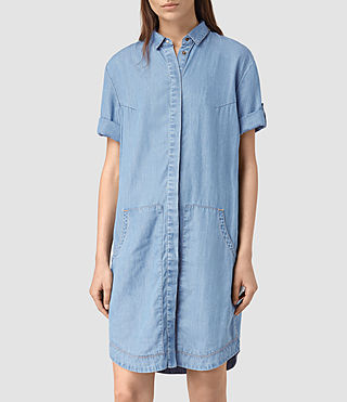 Womens Calla Bay Dress (MID INDIGO BLUE) - product_image_alt_text_3
