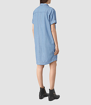 Womens Calla Bay Dress (MID INDIGO BLUE) - product_image_alt_text_5
