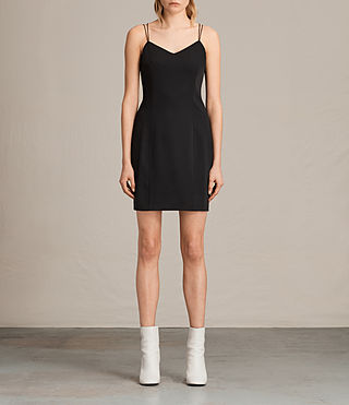 Womens Cara Dress (Black) - product_image_alt_text_1