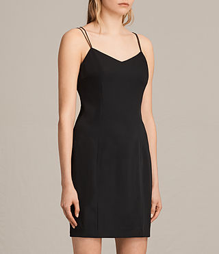 Womens Cara Dress (Black) - product_image_alt_text_4