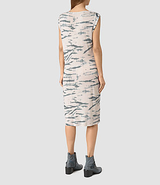 Women's Erin Tye Dress (STONE GREY/BLUE) - product_image_alt_text_4