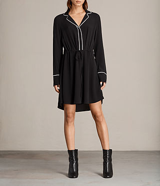 Women's Leon Shirt Dress (Black) -