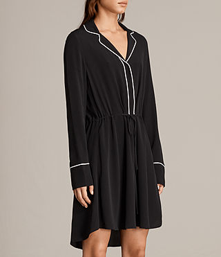 Women's Leon Shirt Dress (Black) - product_image_alt_text_3