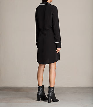 Women's Leon Shirt Dress (Black) - product_image_alt_text_6