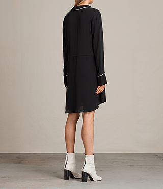 Women's Leon Shirt Dress (Black) - product_image_alt_text_7