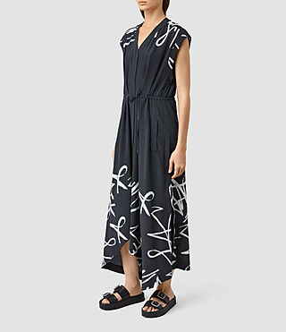 Womens Tate Tokyo Dress (Ink Blue) - product_image_alt_text_1