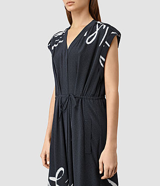 Womens Tate Tokyo Dress (Ink Blue) - product_image_alt_text_2