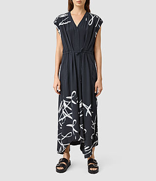 Womens Tate Tokyo Dress (Ink Blue) - product_image_alt_text_3