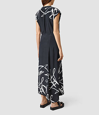 Womens Tate Tokyo Dress (Ink Blue) - product_image_alt_text_4