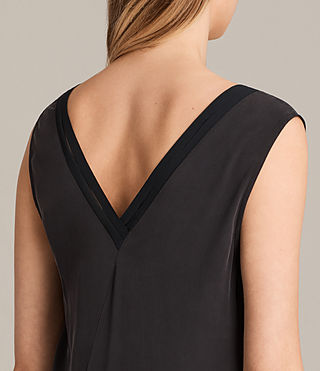 Women's Arla Pleat Dress (Black) - Image 6