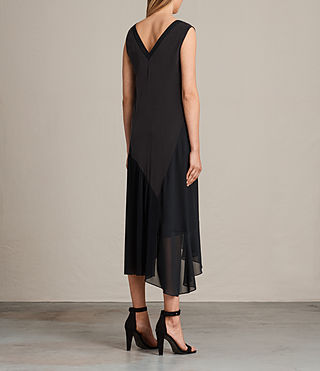 Women's Arla Pleat Dress (Black) - Image 7