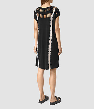 Mujer Slash Tie Dye Tee Dress (BLACK/CHALK) - product_image_alt_text_4