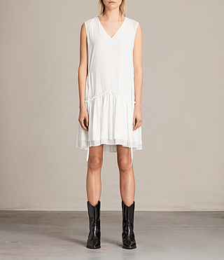 Womens Alia Sleeveless Dress (Chalk White)
